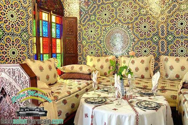 Salon marocain / vision antique pour un design splendide 2017