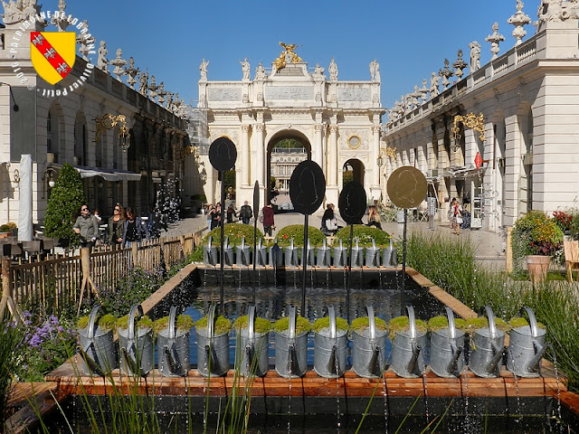 NANCY (54) - Place Stanislas : photos du jardin éphémère 2016