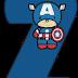 Abecedario del Capitán América Bebé. Captain America Baby Alphabet.