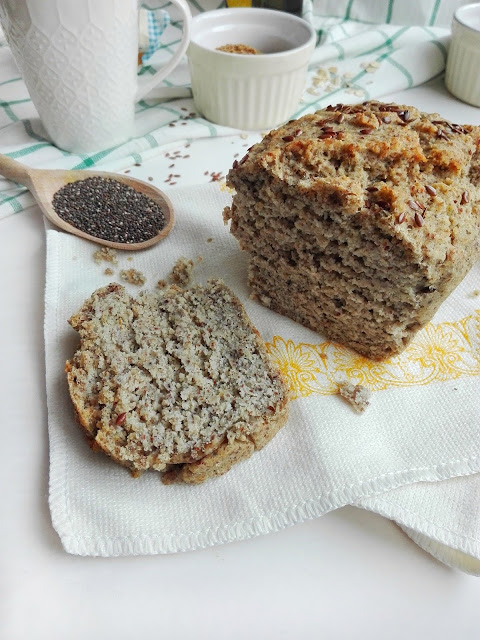 Ryżowy chleb na drożdżach, bez wyrabiania.