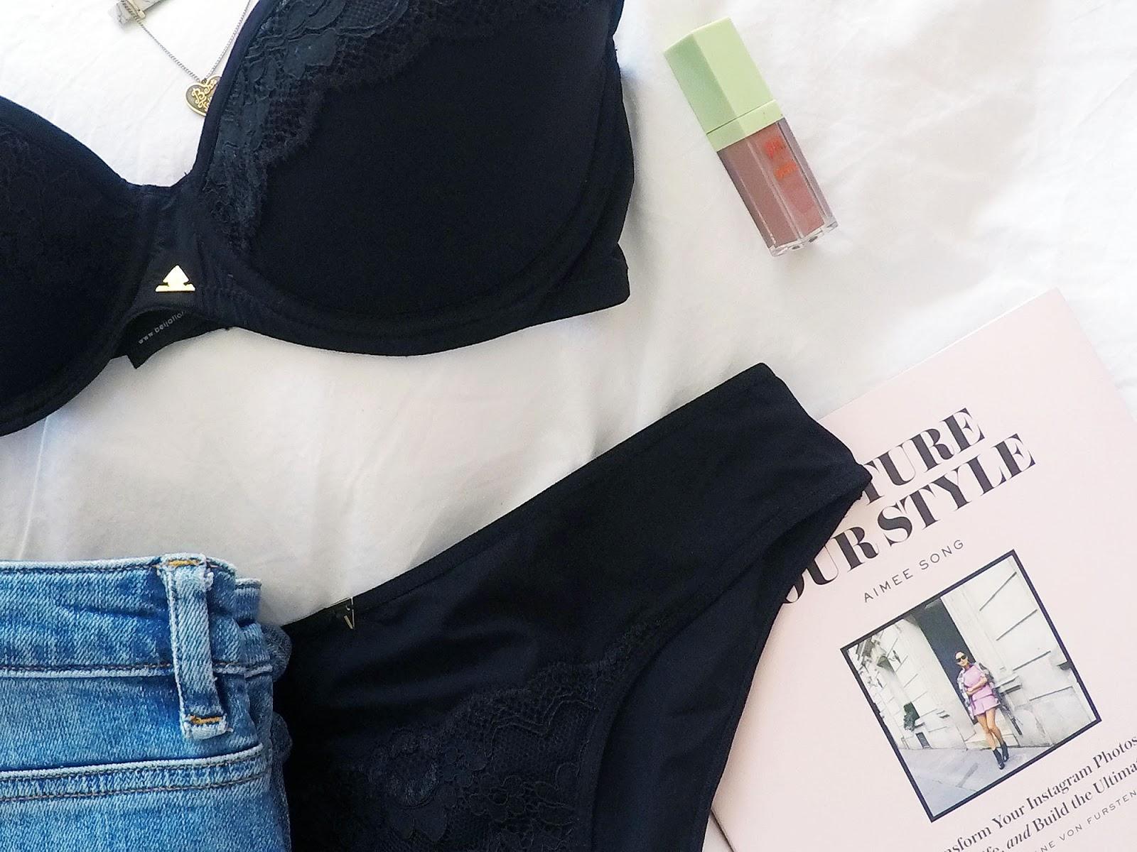 women's lingerie flat lay