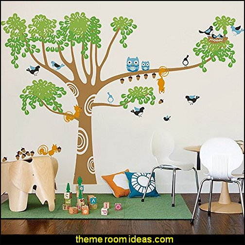 tree Wall Decals Mural for Nursery Room, Big Nursery Tree