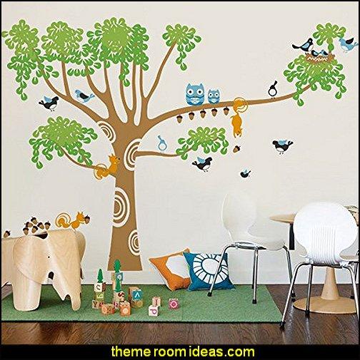 tree Wall Decals Mural for Nursery Room, Big Nursery Tree