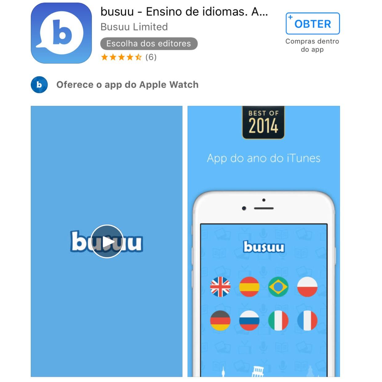 busuu -aplicativos, programas e sites gratuitos para aprender língua estrangeira sem pagar nada