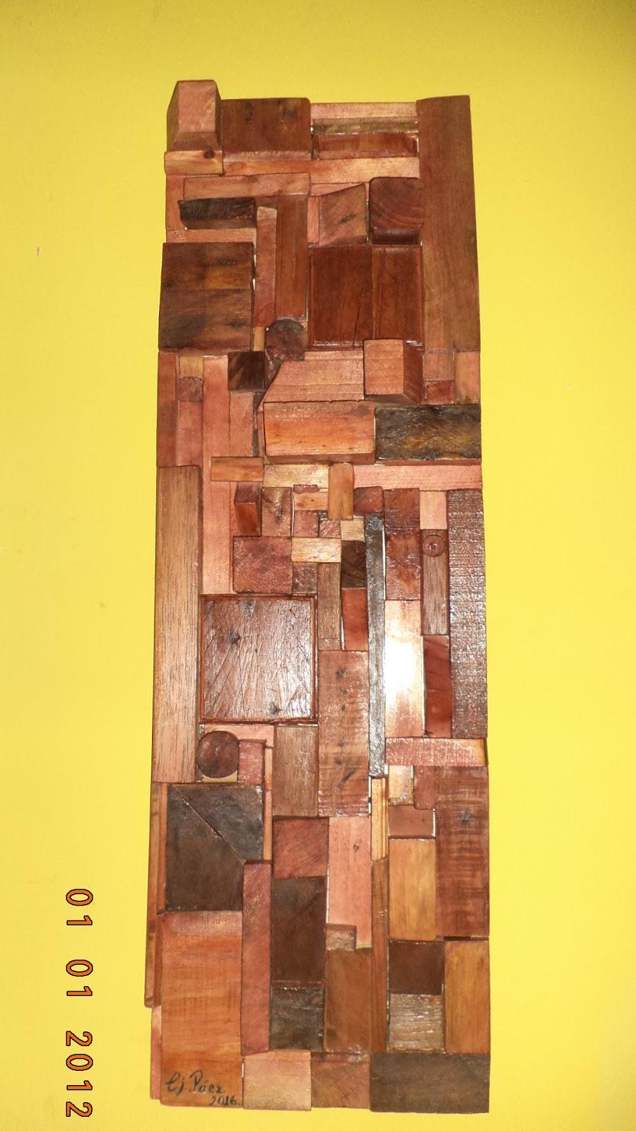 Bricopalets cuadro de palets madera reciclada - Cuadros con palets ...