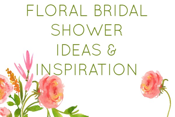 Great ideas for a floral garden theme bridal shower. Brunch shower food ideas.
