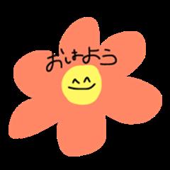 flower says smile~!