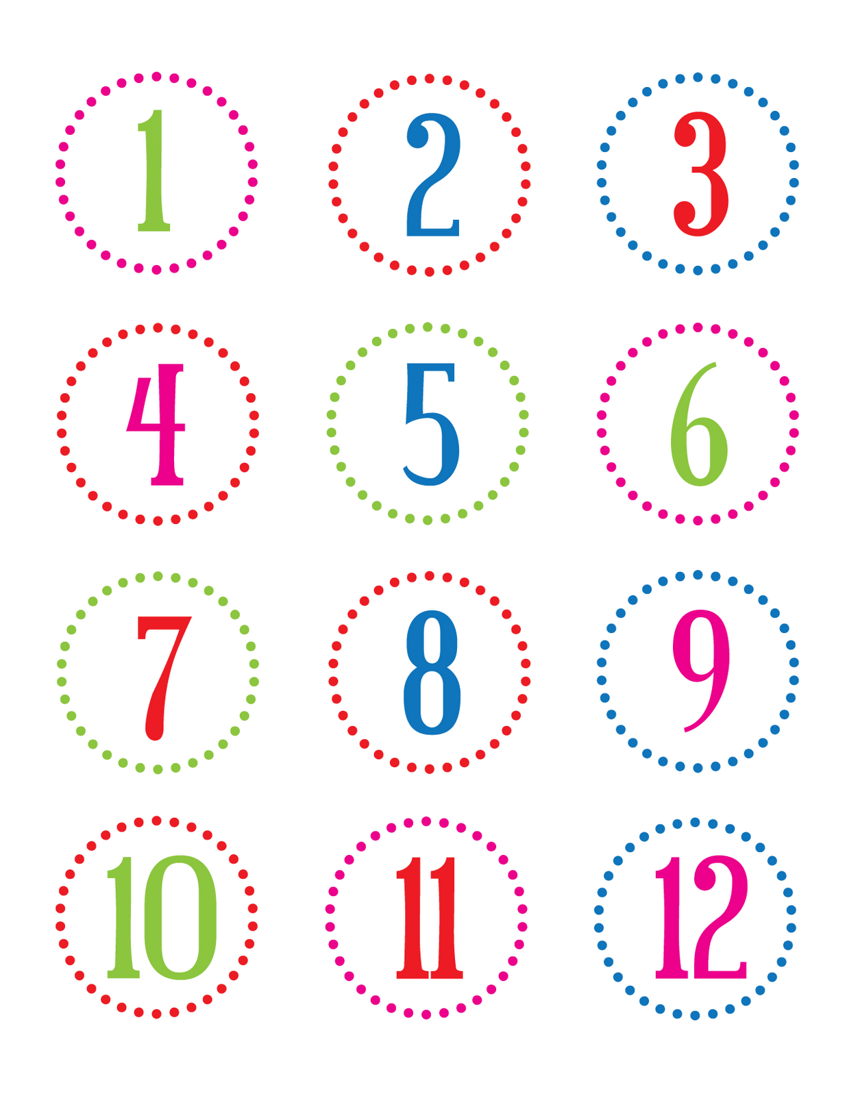 Declarative image regarding countdown printable