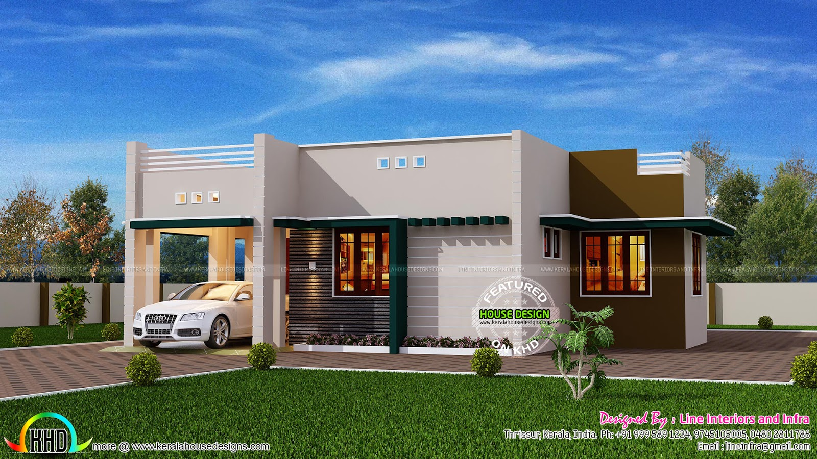 1500 square foot house kerala home design and floor plans for Square house design