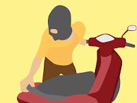 Warga Gagalkan Aksi Pencurian Motor di Jepon