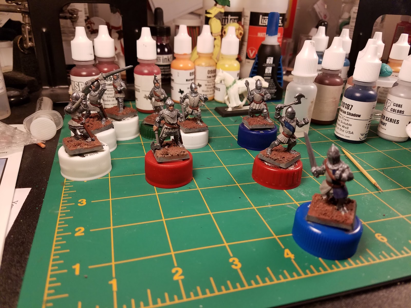 I Ve Decided On The Colors To Use For Knights M Going Combinations Of Blue Red Yellow And White These Guys As You Can See Started