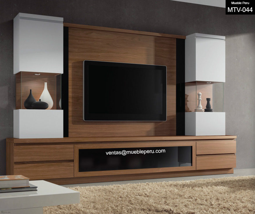 Muebles tv for Disenos de muebles para living