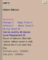 Helium Balloons, hadiah event baru Little Jim, Seal Online Blade of Destiny (BoD)