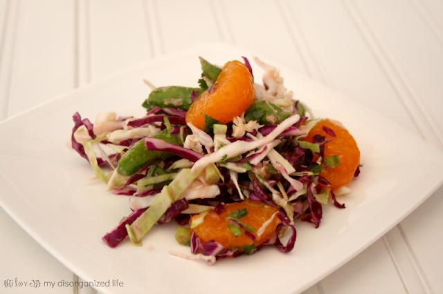 Cabbage Salad with Garlic Ginger Dressing- {i love} my disorganized life #FlavorsOfSummer #VirtualPicnic