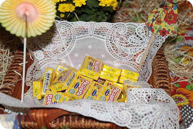 Decoração de Festa Caipira - Junina : Paçoca