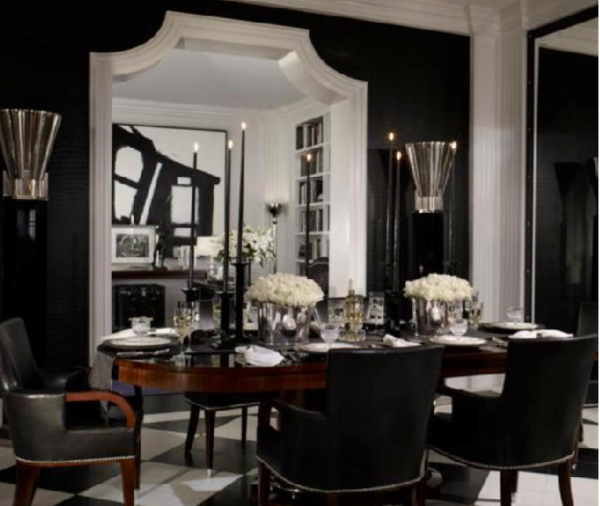 CAD INTERIORS design tips black rooms black walls