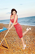 Polka Dot Skirt & Top, Kelly Brook 2012 Summer Collection for New Look