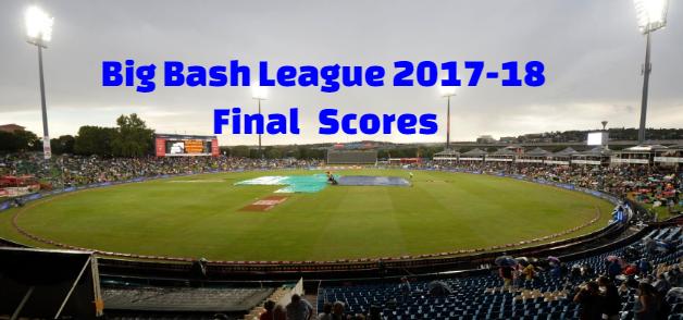 Big Bash League, women big bash league,  2017-18 Final, Scores, Results Winners.