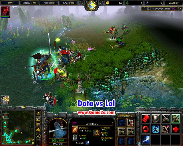 Dota Vs Lol V3 08 Ai Getdota Map