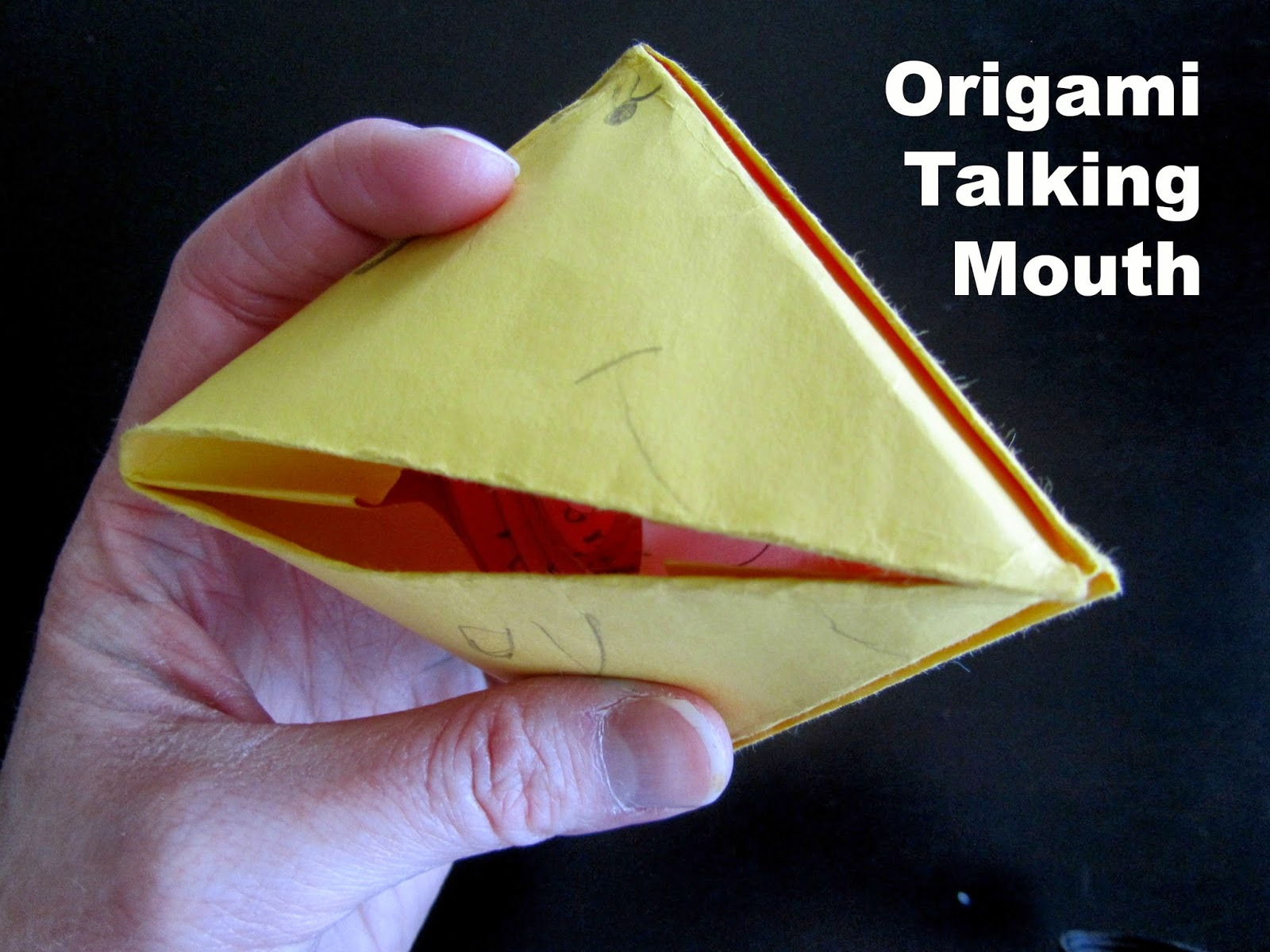 How To Make A Origami Talking Frog