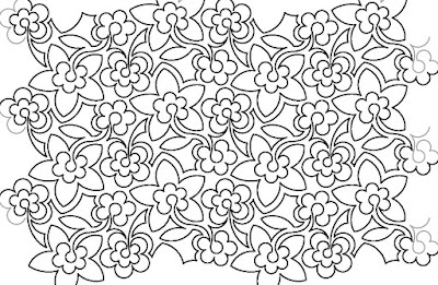 'Flowerumpus' digital quilting pattern
