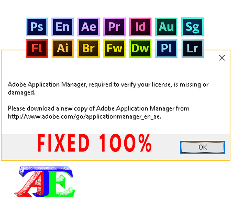 Fixed 100%: Adobe Application Manager required to verify