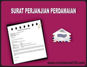 Gambar Contoh Surat Perjanjian Damai