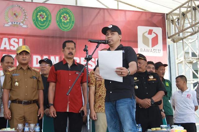 Anggota KPU Soppeng Telat Hadiri Deklarasi Pemilu Damai