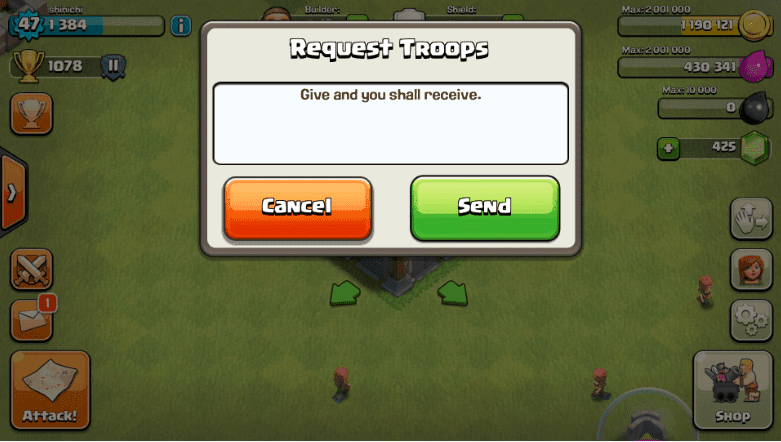 Clash of Clans - Request Troops