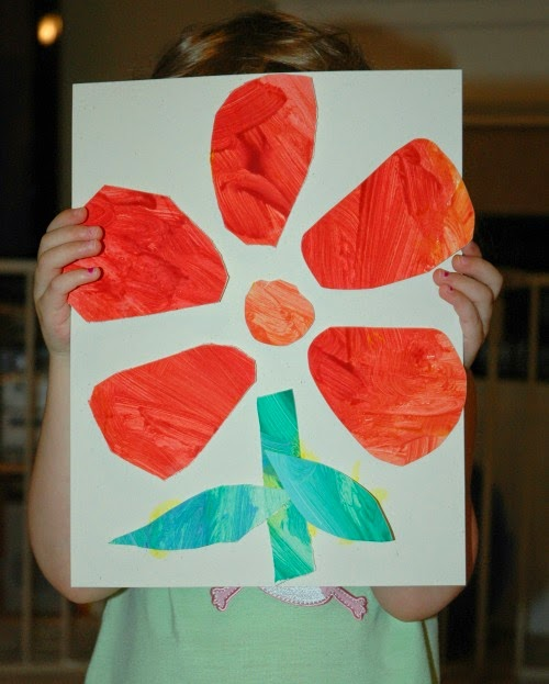 Eric Carle Tiny Seed painting collage craft
