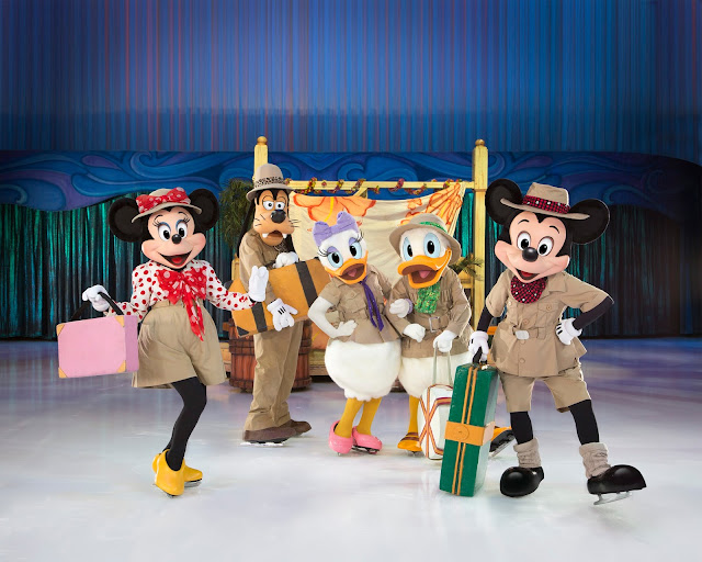 Mickey and Minnie Mouse with friends at Disney on Ice Passport to Adventure