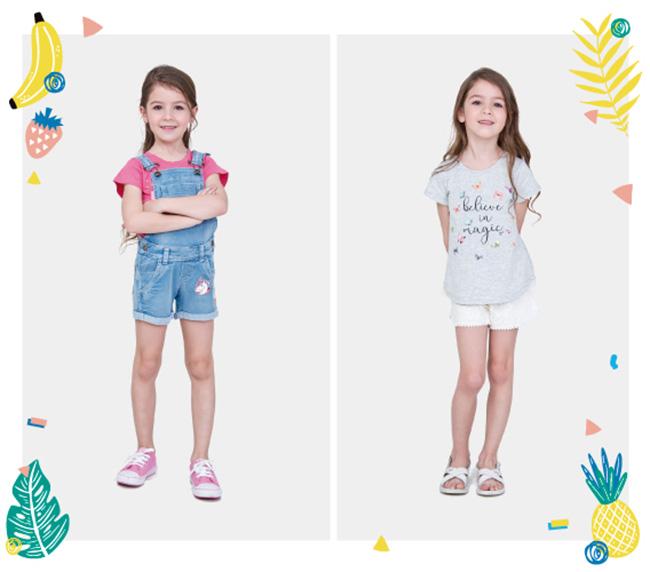Ropa de moda verano 2018 para niñas.