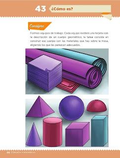 Respuestas Apoyo Primaria Desafíos Matemáticos 5to. Grado Bloque III Lección 43 ¿Cómo es?