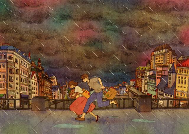 Aşk birlikte yağmurdan kaçmaktır
