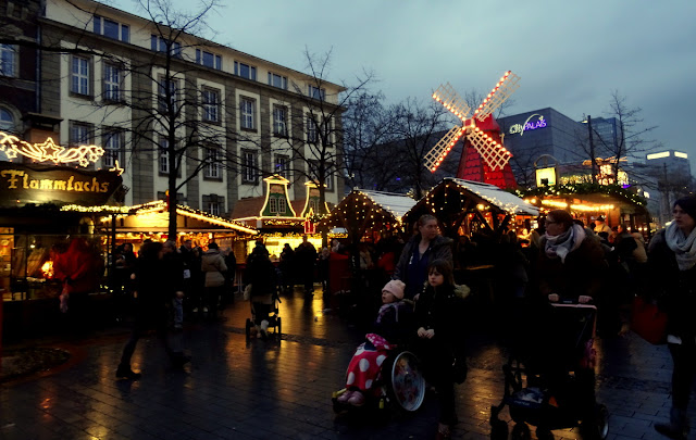 Visiting the Christmas Market in Duisburg, Germany