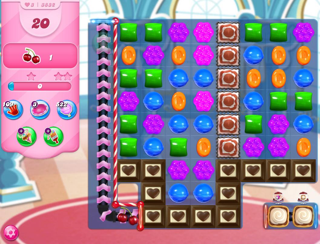 Candy Crush Saga level 3832