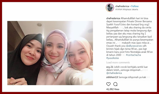 Usai Hadiri Private Dinner Bersama Syaikh Yusuf Estes, Artis 'Girls Squad' Ini Memutuskan Berhijab