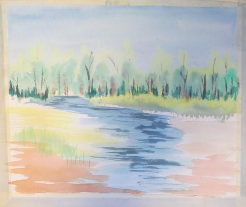 watercolor landscape