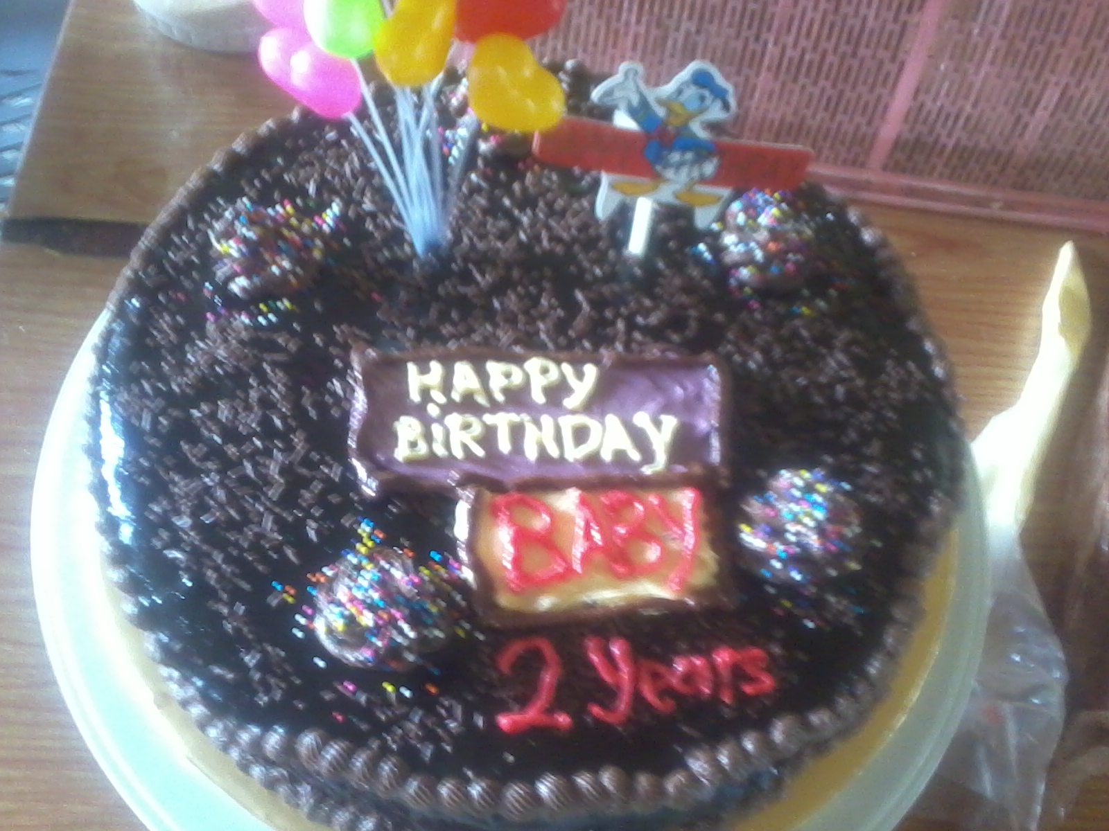 Sweet Red Cherry Kek Birthday Kek Coklat Moist