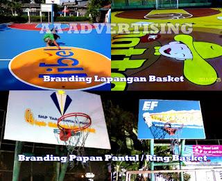 Pengecatan Lapangan Basket dengan Branding