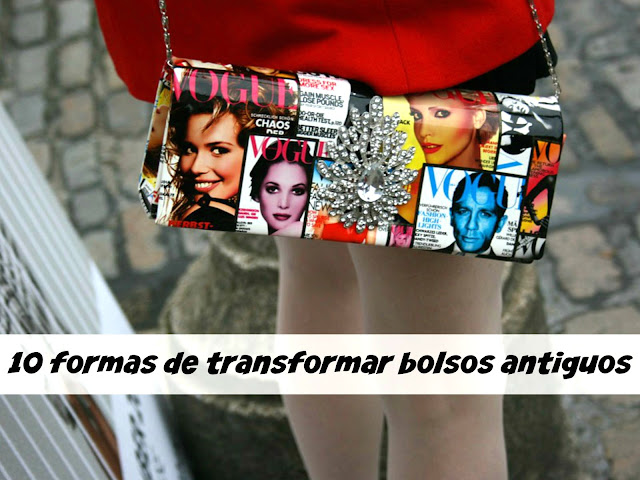 bolsos, tunear, transformar, customizar, transformar bolsos antiguos