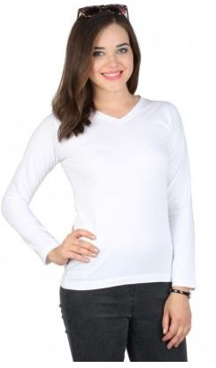 White Full-Sleeved Tee