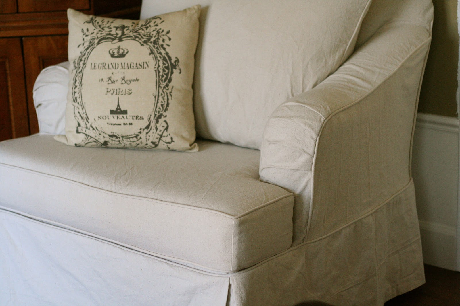 Custom Slipcovers By Shelley Drop Cloth Chair