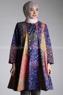 Baju Kerja Batik Wanita Muslimah