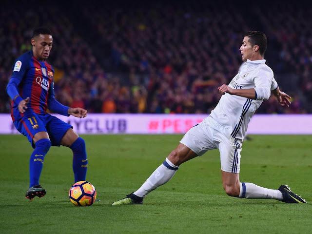 Ronaldo and Neymar on play ground