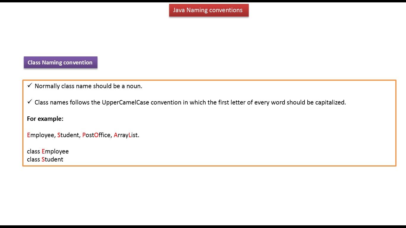 Java ee java tutorial naming conventions in java java tutorial naming conventions in java baditri Gallery