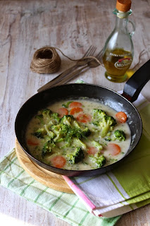 Зеленчуци с оризова сметана