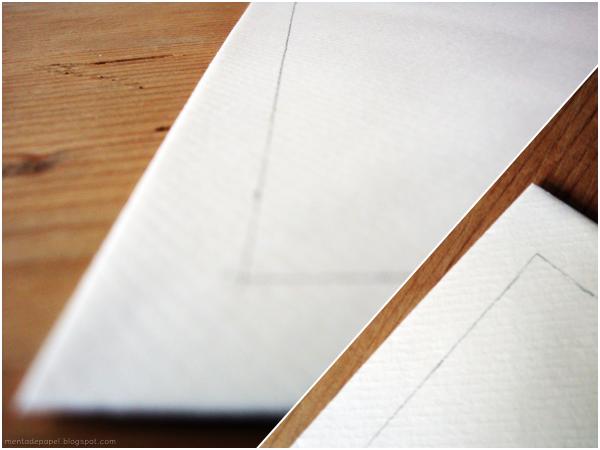 Dibujo del margen del sobre.