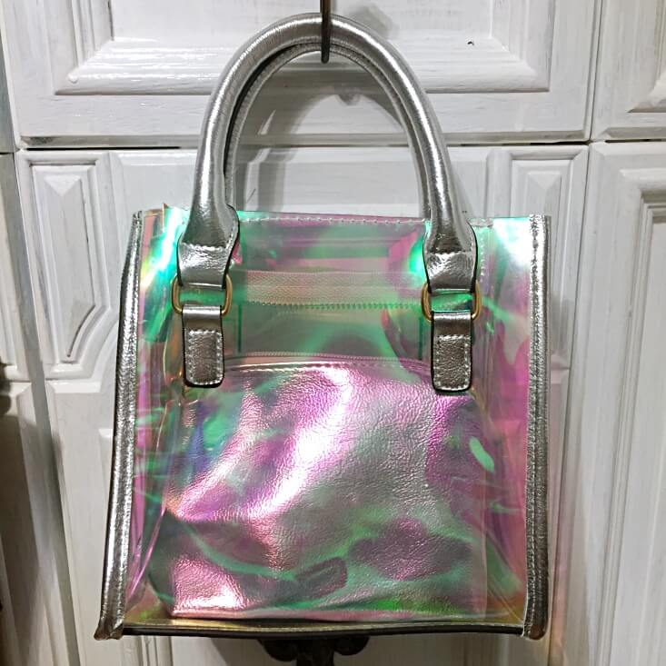 Perfect Image New York Clear iridescent handbag
