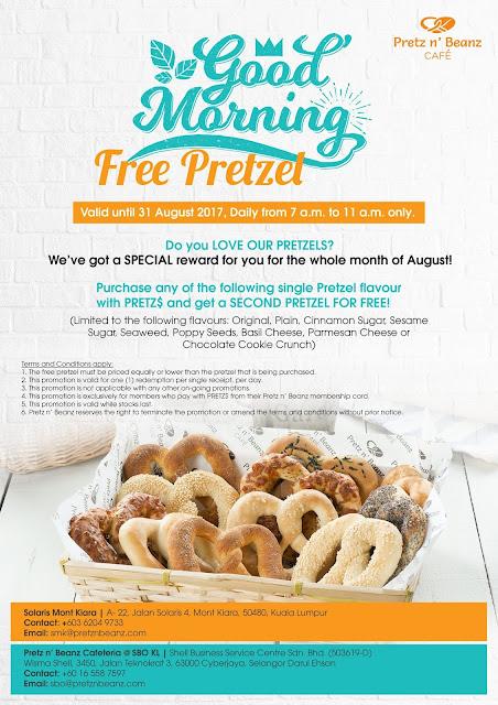 Pretz n' Beanz Malaysia Free Pretzel Promo